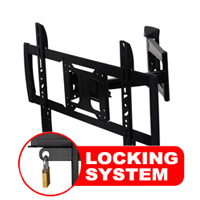 A431BLK Professional Full motion Cantilever Bracket with Locking Feature