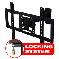 A433CBLK Professional Single Arm Cantilever Bracket With Locking Feature