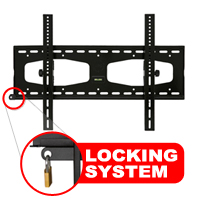 A411ABLK Ultimate Slim Tilting Bracket - With Locking Feature