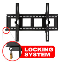 A413BLK Super thin tilting bracket with locking feature