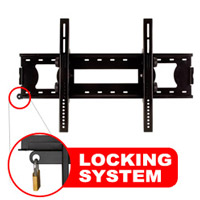 A416BLK Slim line tilting bracket with locking feature