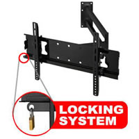 A426ABLK Superior medium reach extending cantilever bracket with locking feature