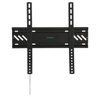 A80BLK Flush flat bracket with locking feature version 2 - medium