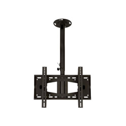 C392BLK Professional medium length rotating tilting ceiling bracket - medium